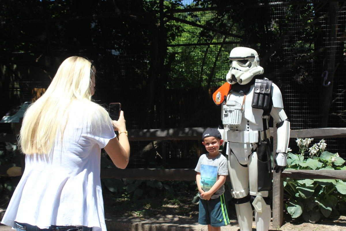 A Storm Trooper at Elmwood Park Zoo
