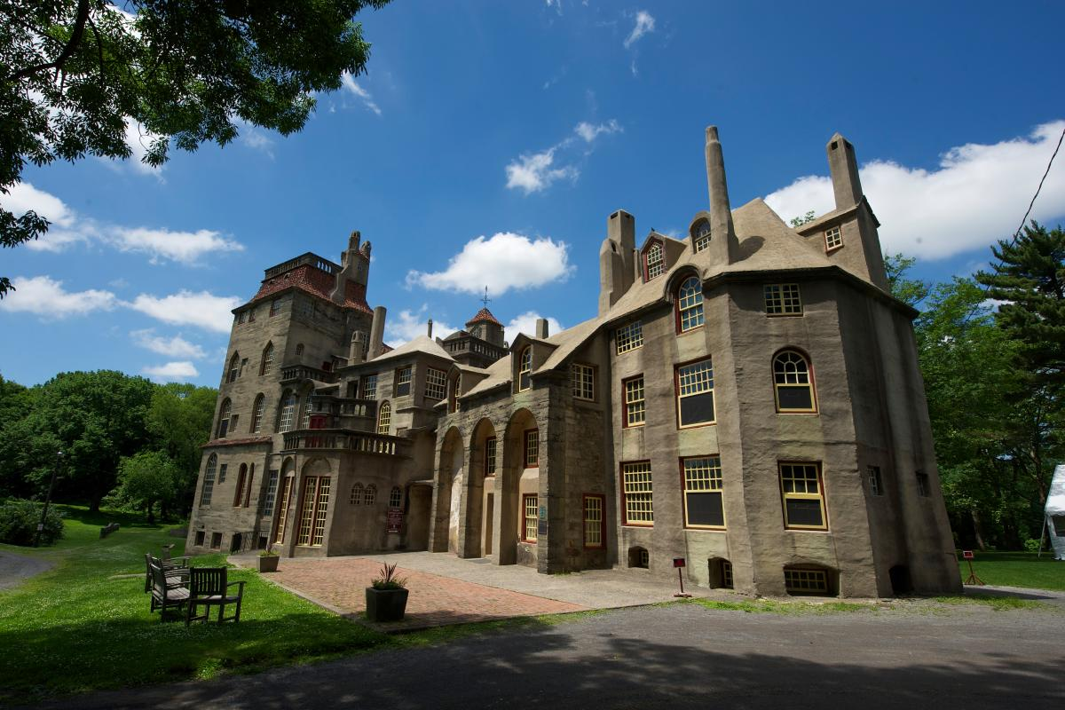 Explore Fonthill Castle's exhibits housed within each room that perfectly preserves the past.