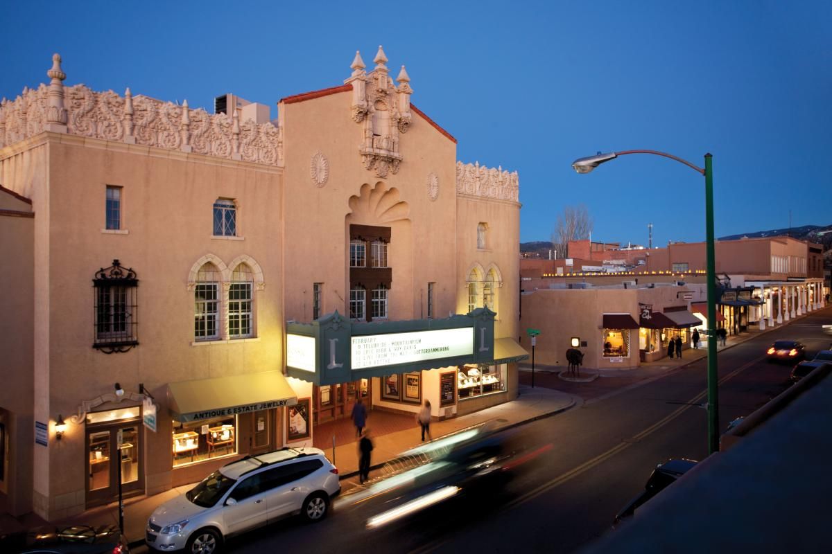 The Lensic Theater in Santa Fe