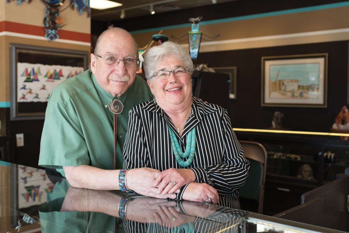 Sam and Marguerite Chernoff of Wrights Indian Art