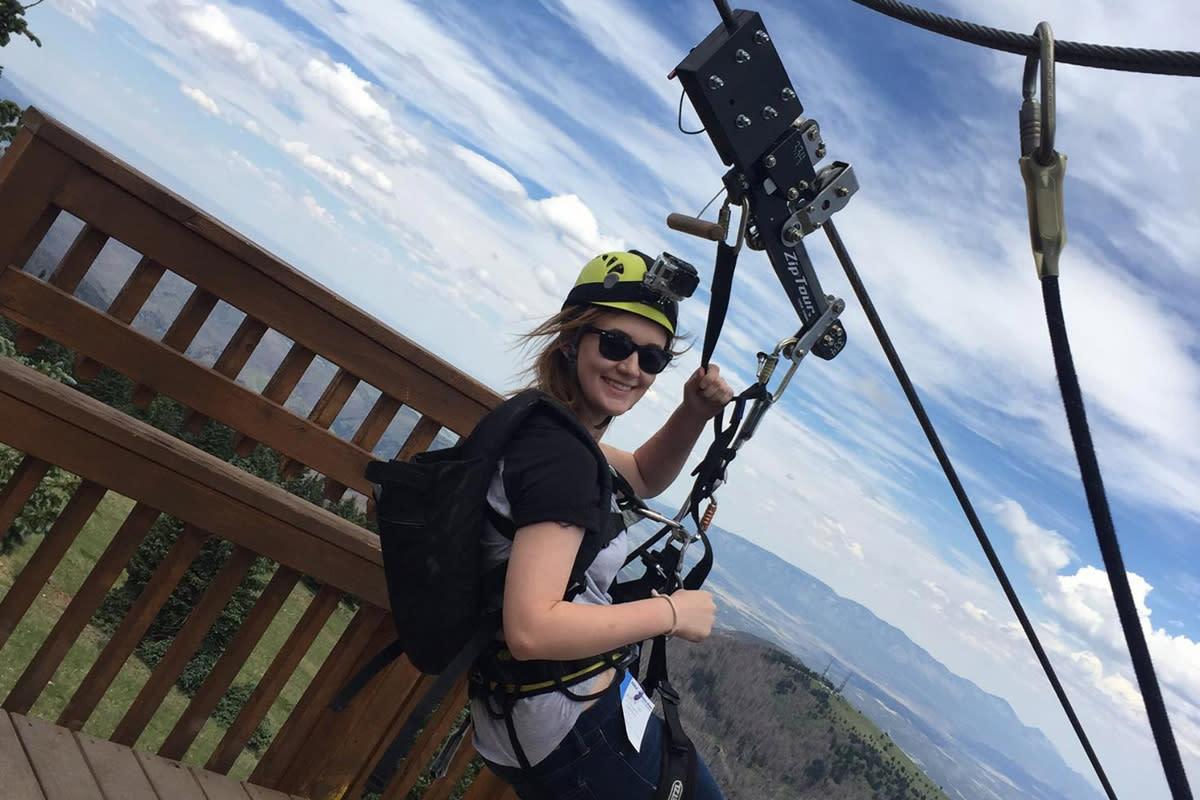 ski apache zipline