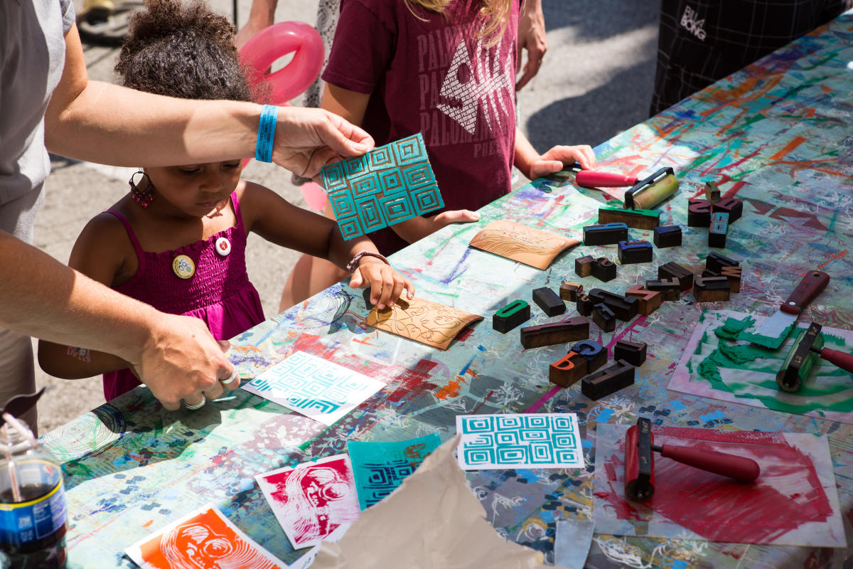 Craft table at Square Roots Festival Chicago