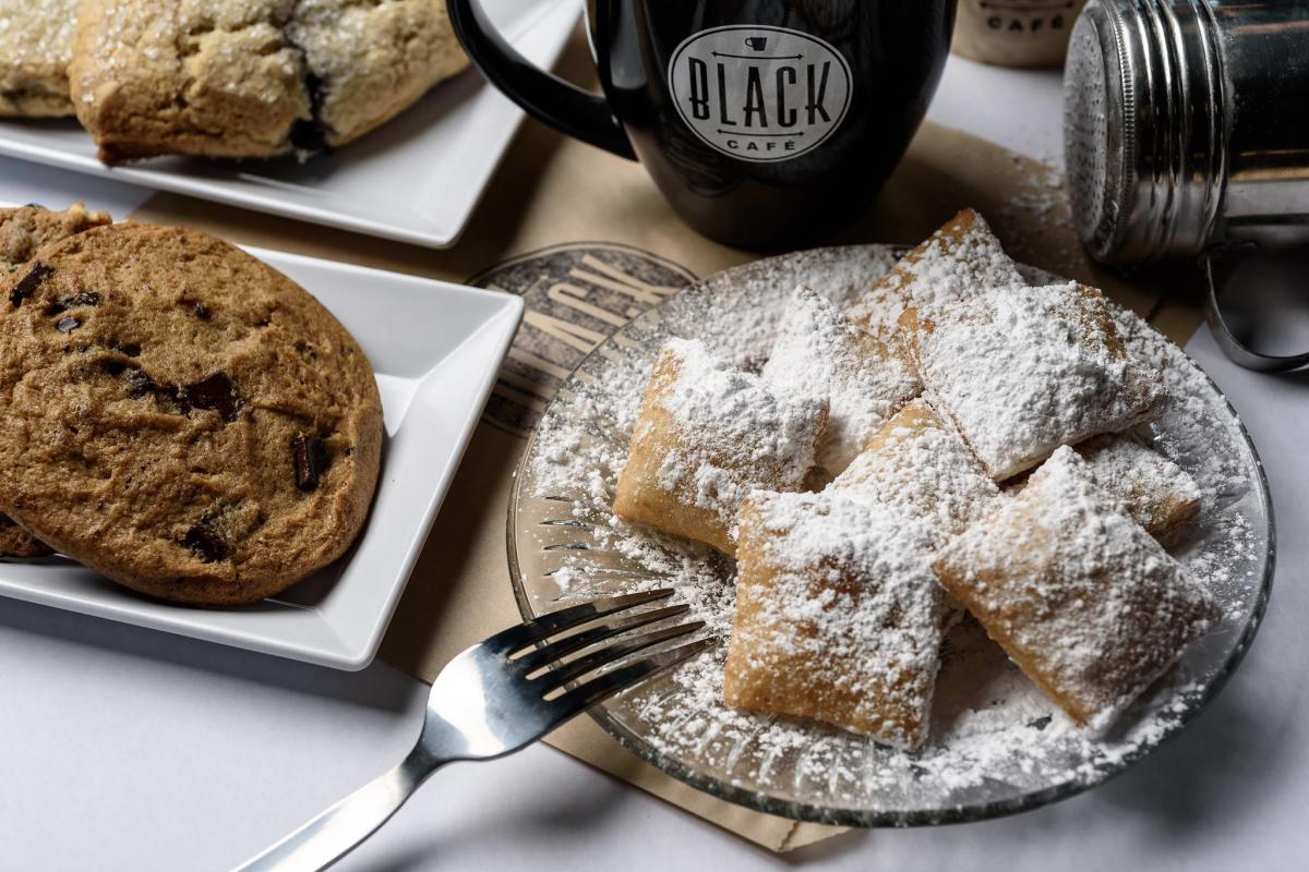 Desserts and coffee at Black Cafe in Lafayette, LA