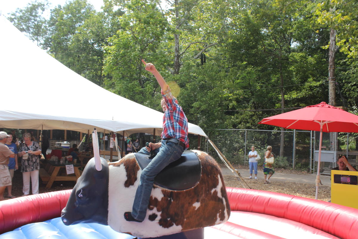 Ride the Mechanical Bull at Elmwood Park Zoo's Country Fest