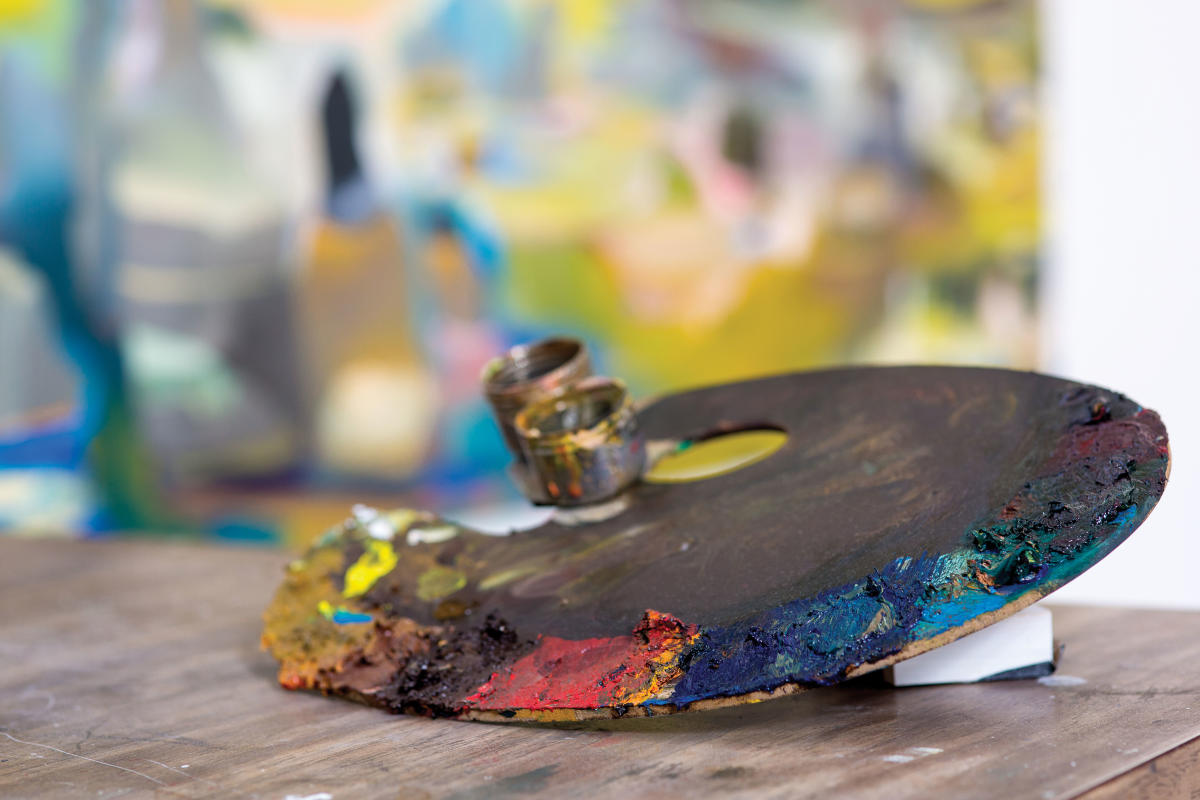 Roswell artist in residence Conor Fagan's palette
