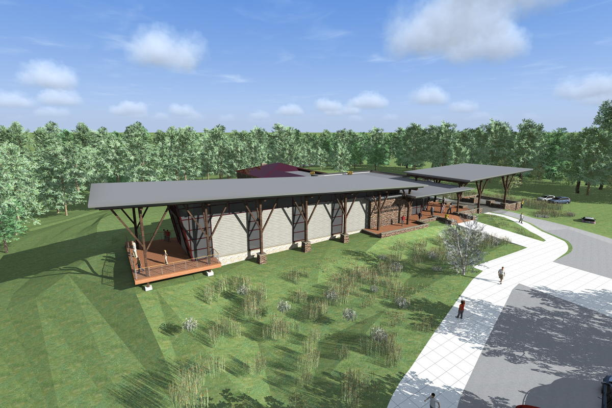 John James Audubon Center Visitor Center Rendering