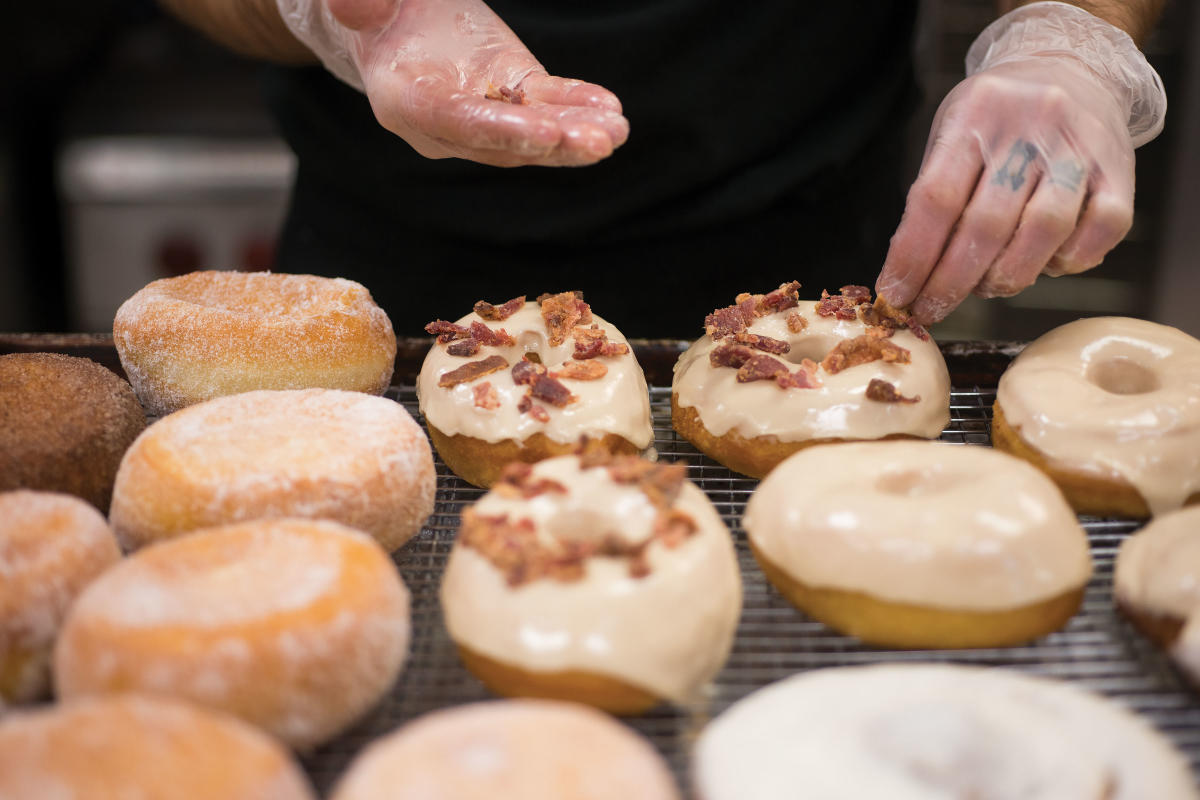 Bristol Doughnut Co.'s maple bacon doughnuts