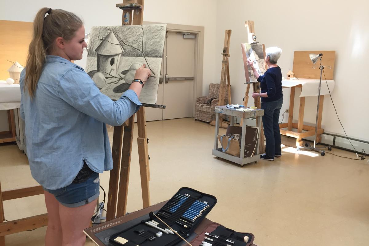 Wayne Arts Center Drawing Class