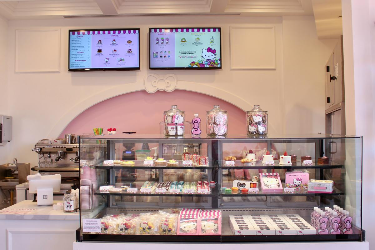 Counter at Hello Kitty Cafe