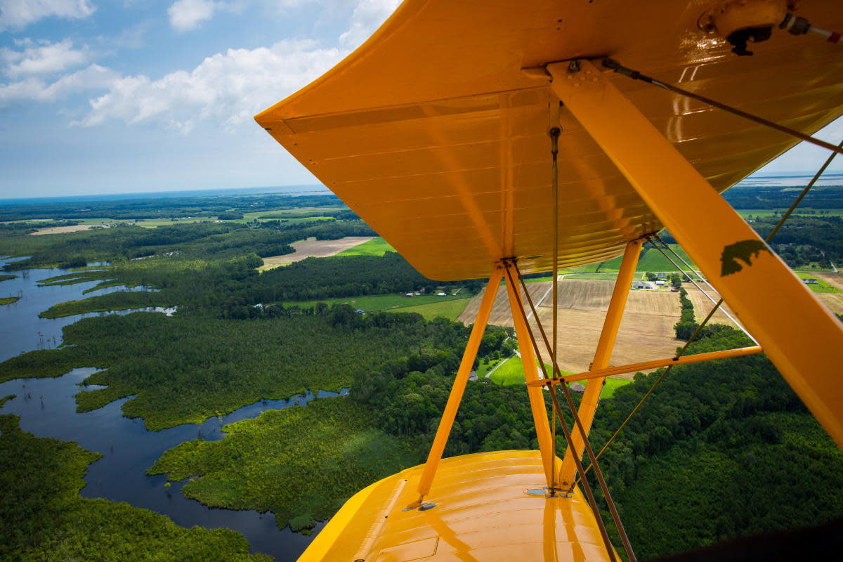 View from the 1941 Boeing Stearman PT-17 Kaydet