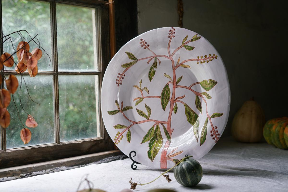 R. Wood platter