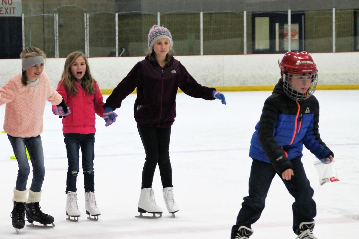 Skating at the Geneva Recreation Center ice rink