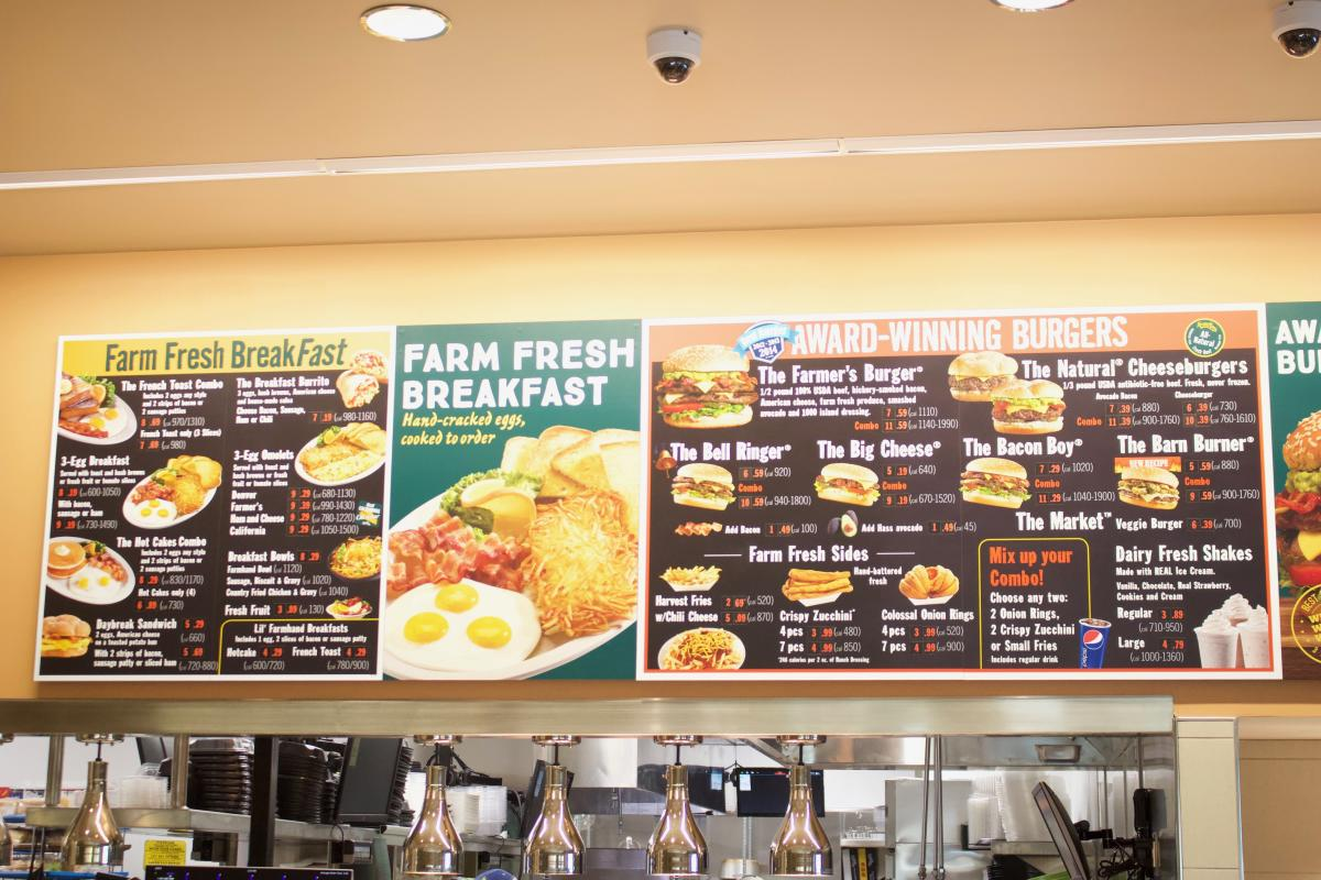 Menu at Farmer Boys in Irvine