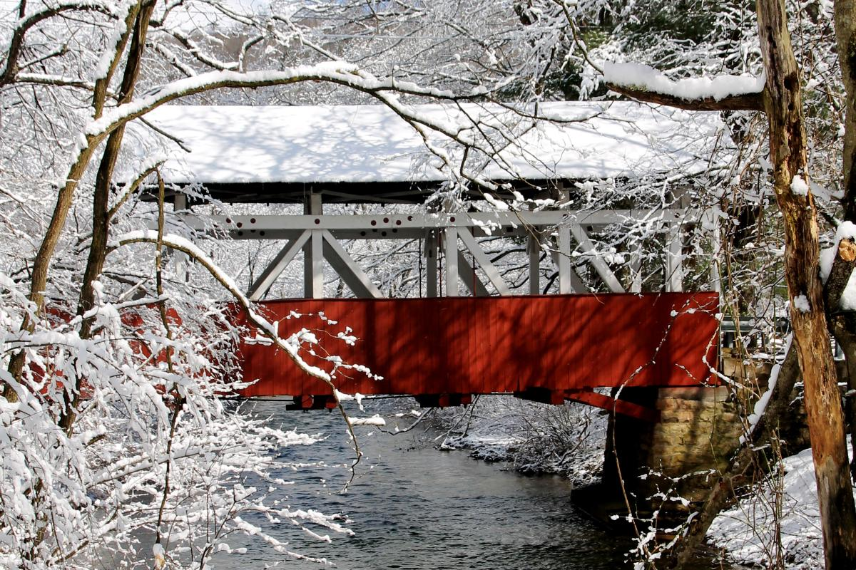 Snowy Covered Bridge