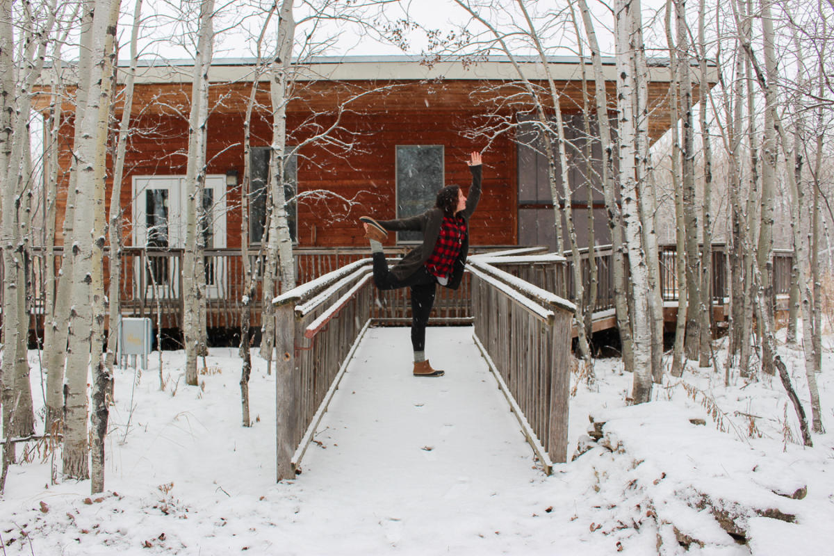 Cabin Yoga FortWhyte Alive