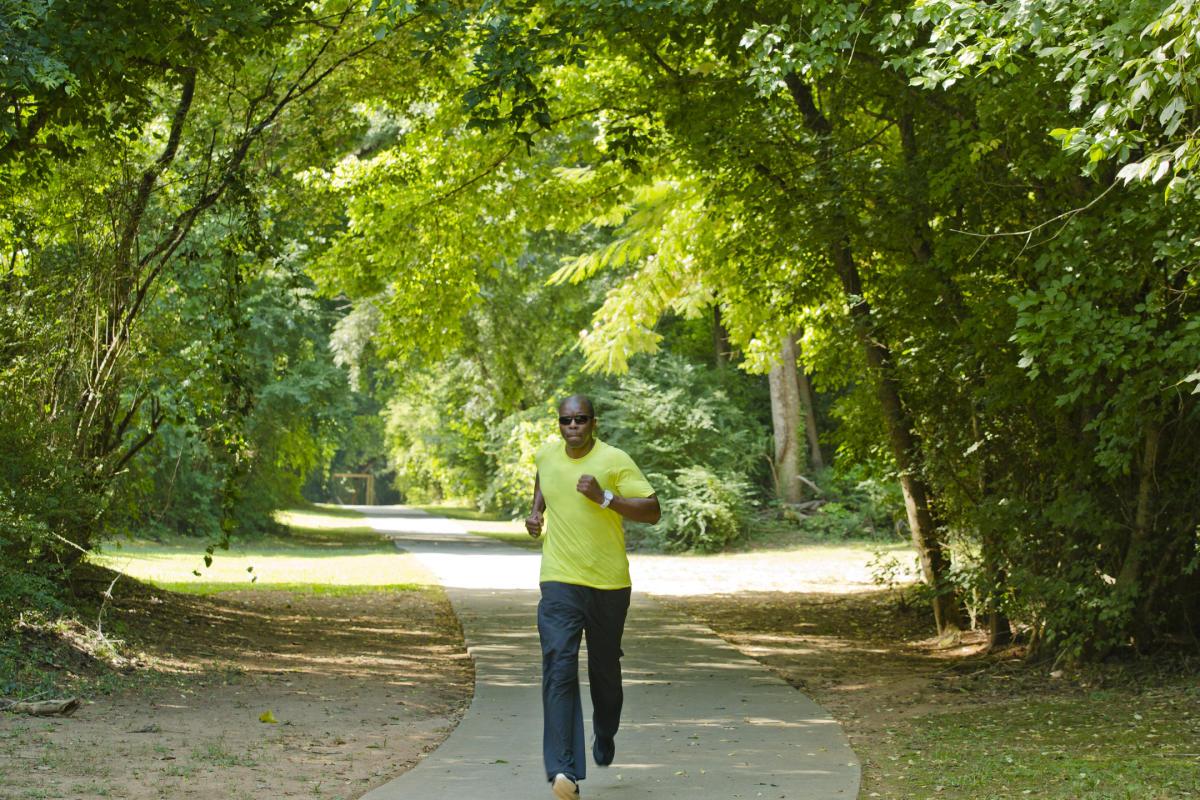 Oconee River Greenway runner