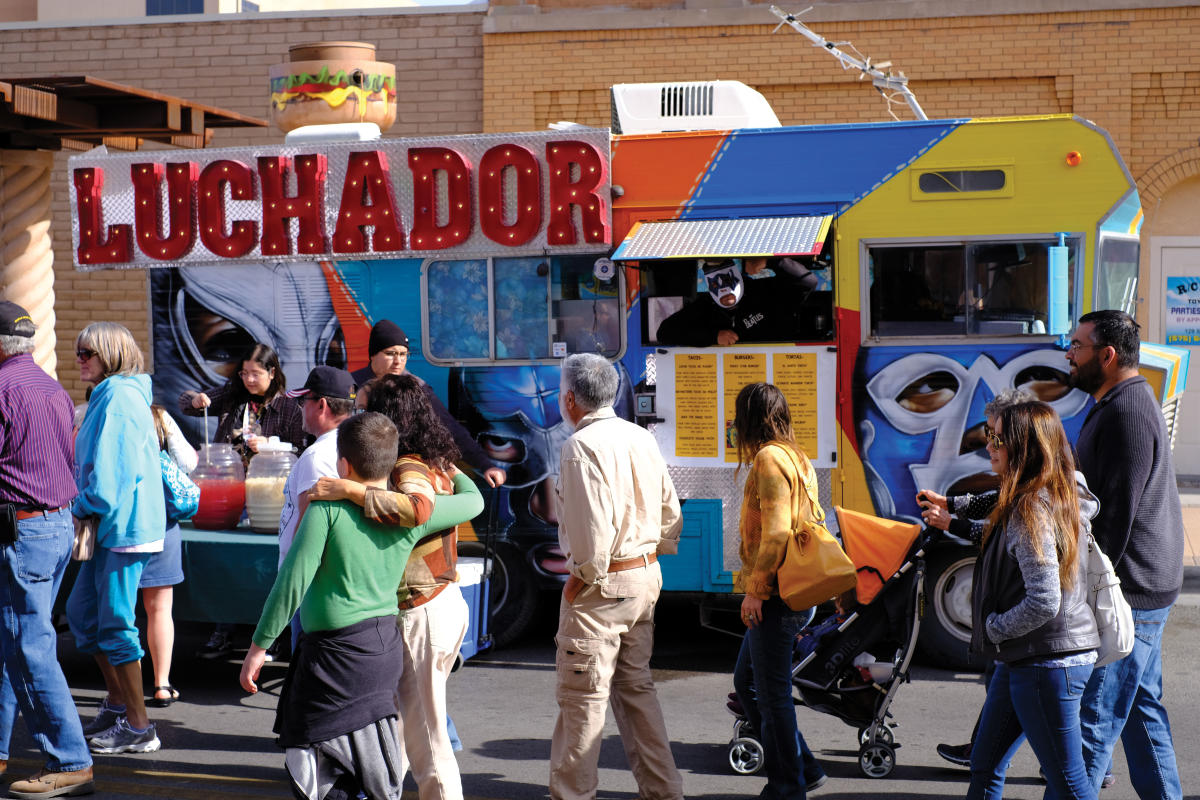Luchador Truck at the Farmers Crafts Market in Las Cruces.