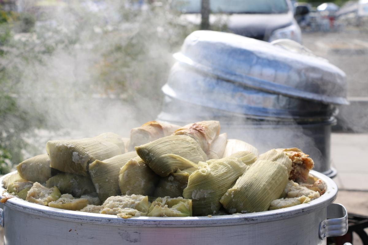 Batch of Tamales at the Indio Intl Tamale Festival
