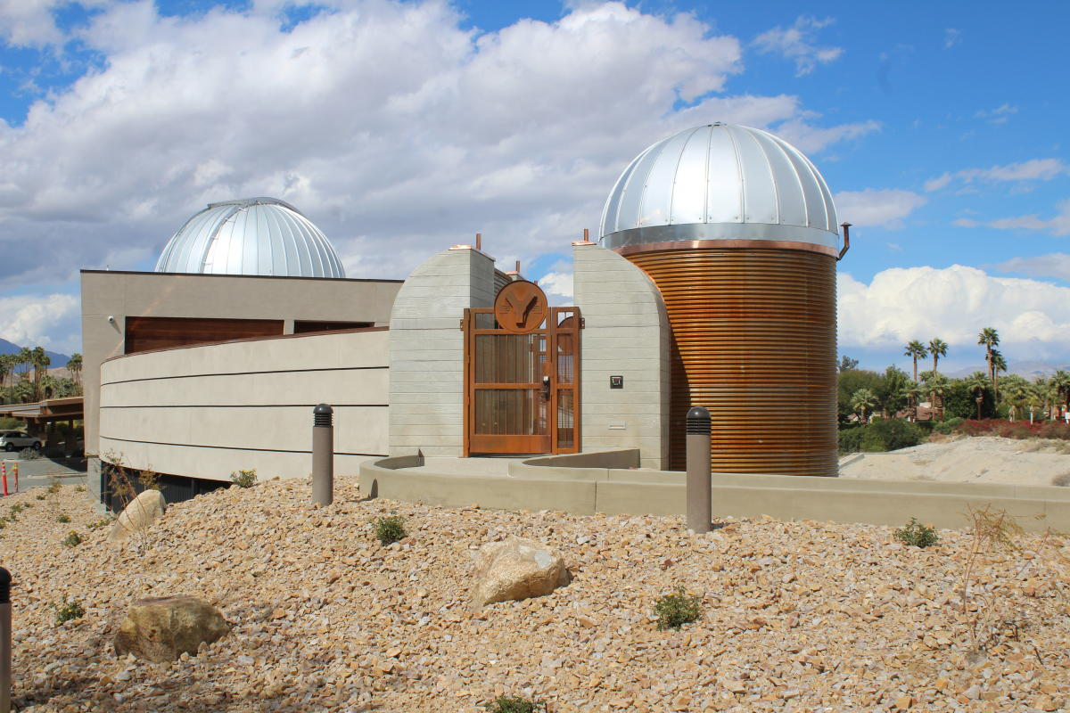 Side Profile of Exterior of Rancho Mirage Observatory