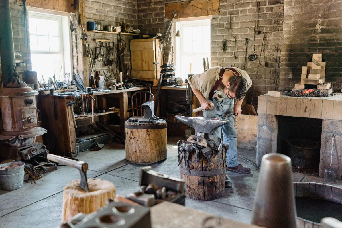 Learn to be a blacksmith at this is the place heritage state park