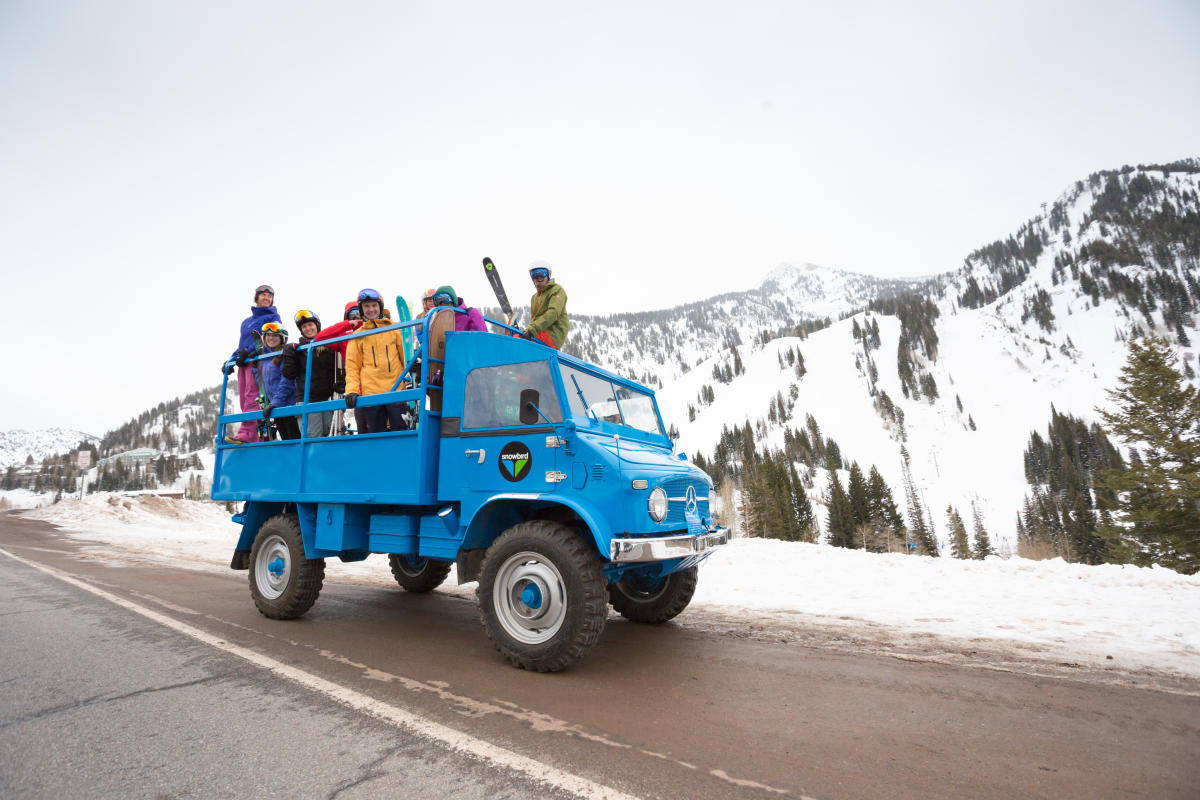 Get the entire carpool crew to Snowbird in a Unimog