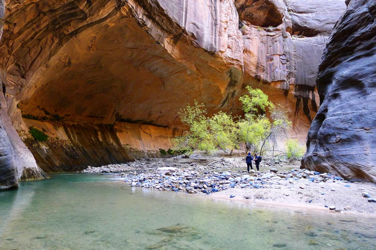 The Narrows in Zion aren't always a tight squeeze