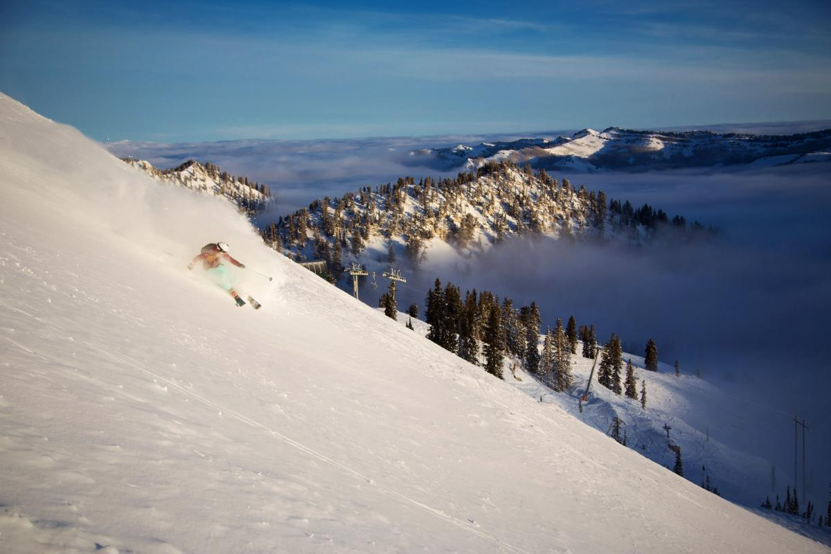 McKenna Peterson Skiing at Brighton Resort