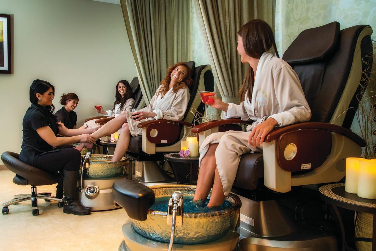 Spa pedicure at Grand Traverse Resort and Spa