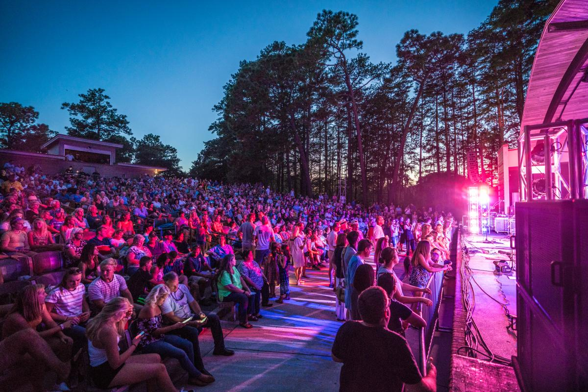 Night concert at the Greenfield Lake Amphitheater in Wilmington, NC