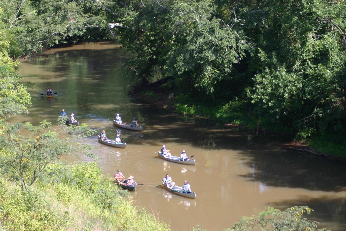 Canoeing the Oconee