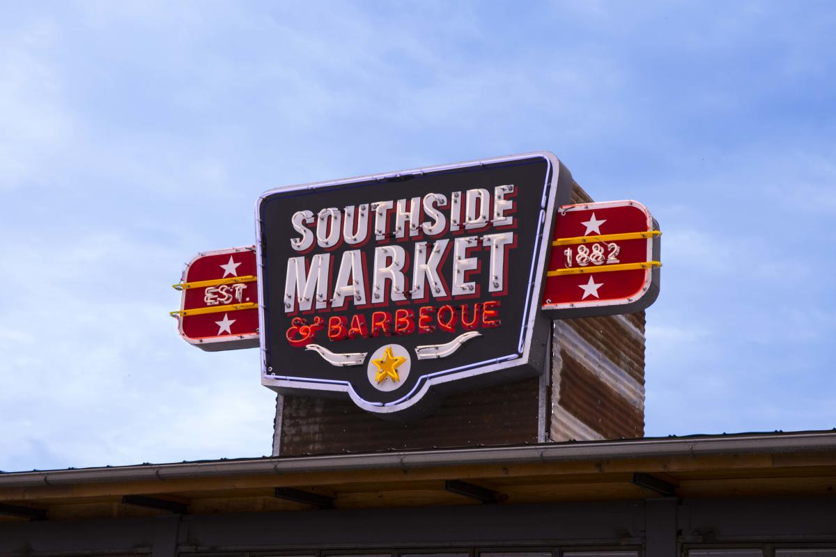 Bastrop Southside Market BBQ Sign