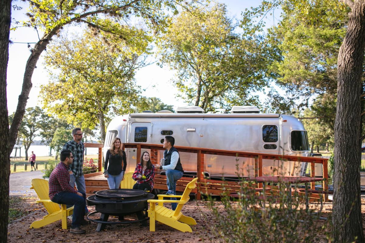 Friends Glamping in Bastrop, Texas