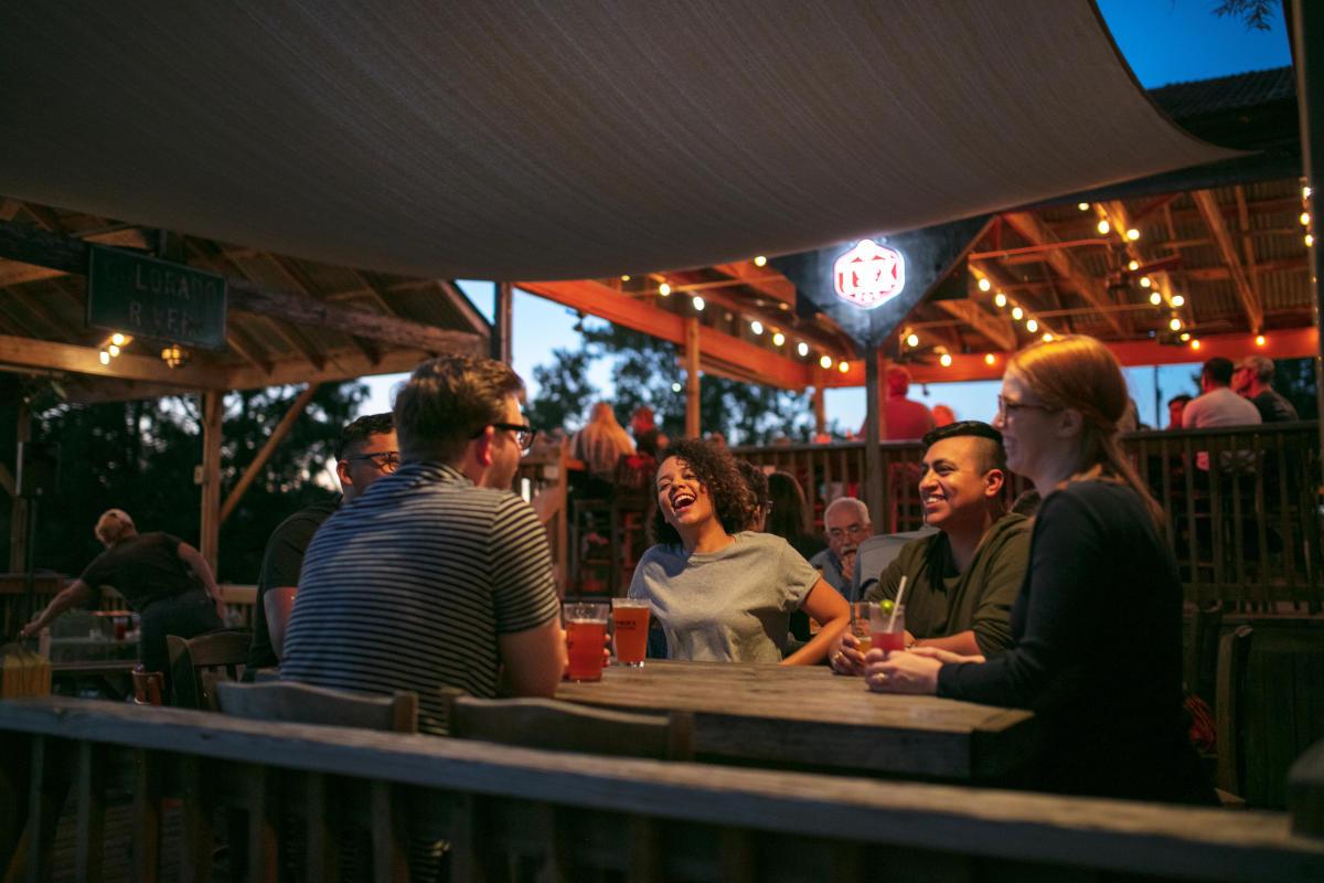 Friends Enjoying a Drink in Bastrop
