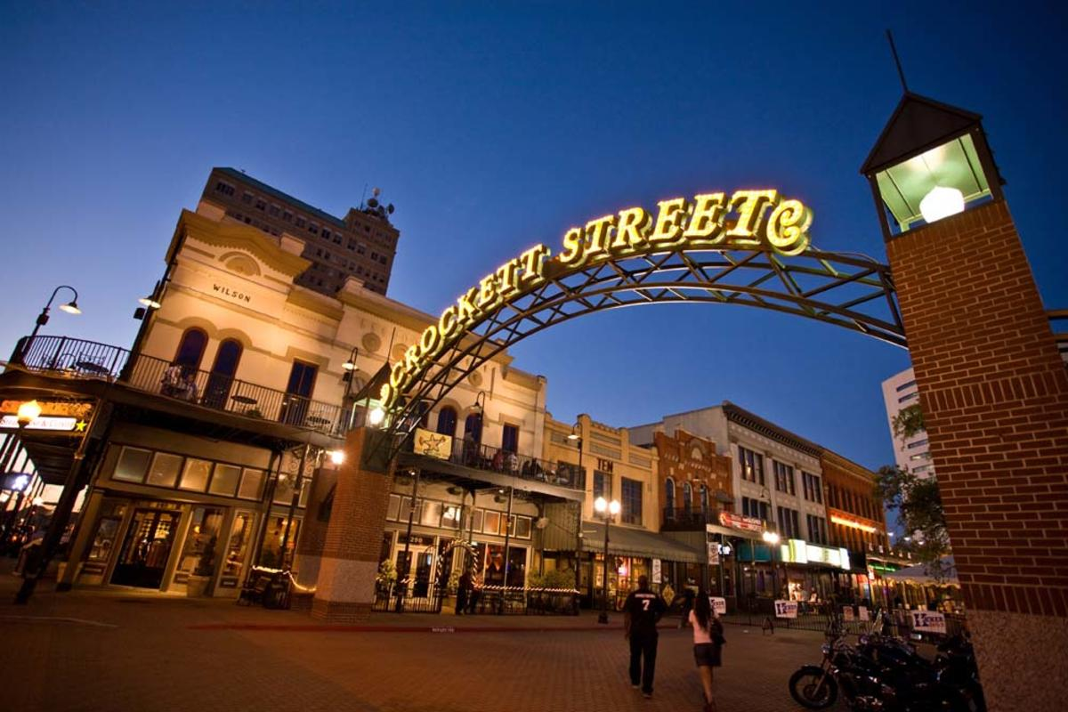 Crockett Street Entertainment District Entrance