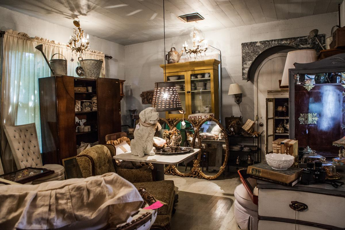 Shoppers can explore the eclectic home decor selection at Urban Habitat.