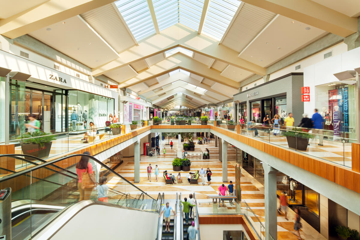 Bellevue Square is a stylish shopping center with lots of natural light and iconic retailers