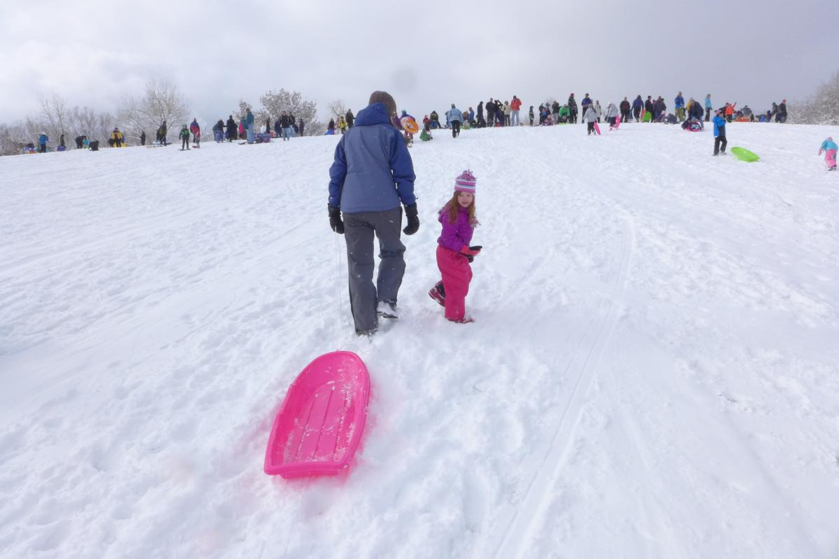 Scott Carpenter Park Sledding Boulder