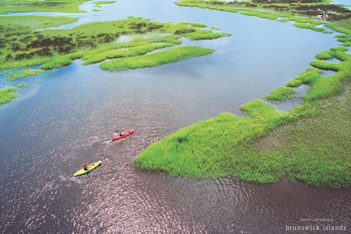 Marsh Kayaking in North Carolina's Brunswick Islands