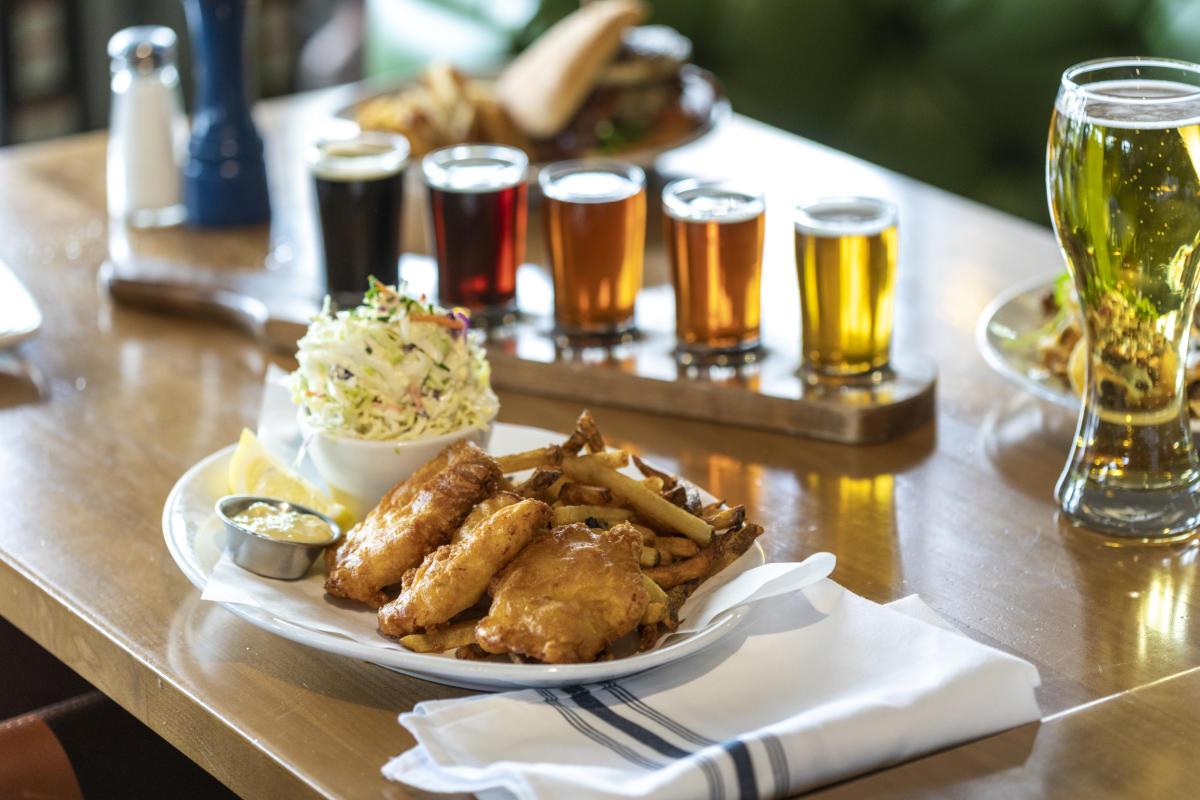 Hop Social Tavern fish and chips
