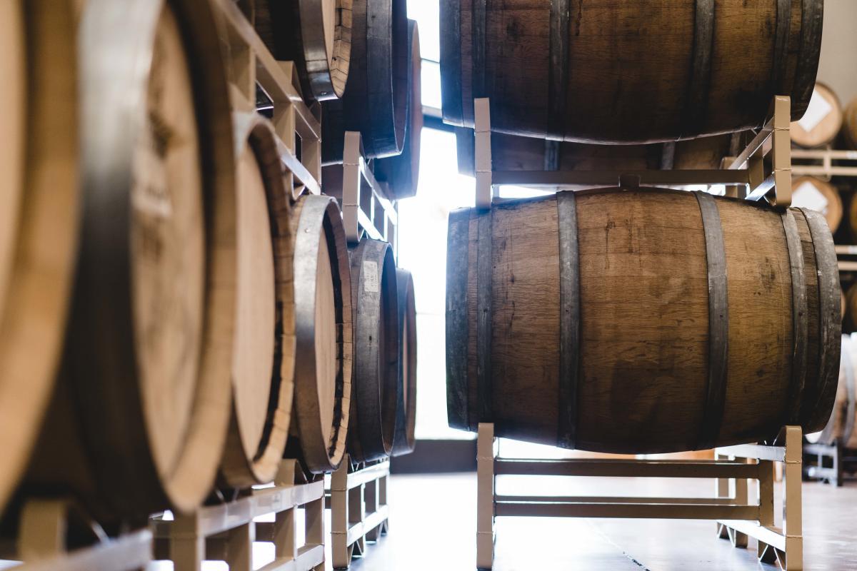 SanTan Brewery Distillery Barrels in Chandler