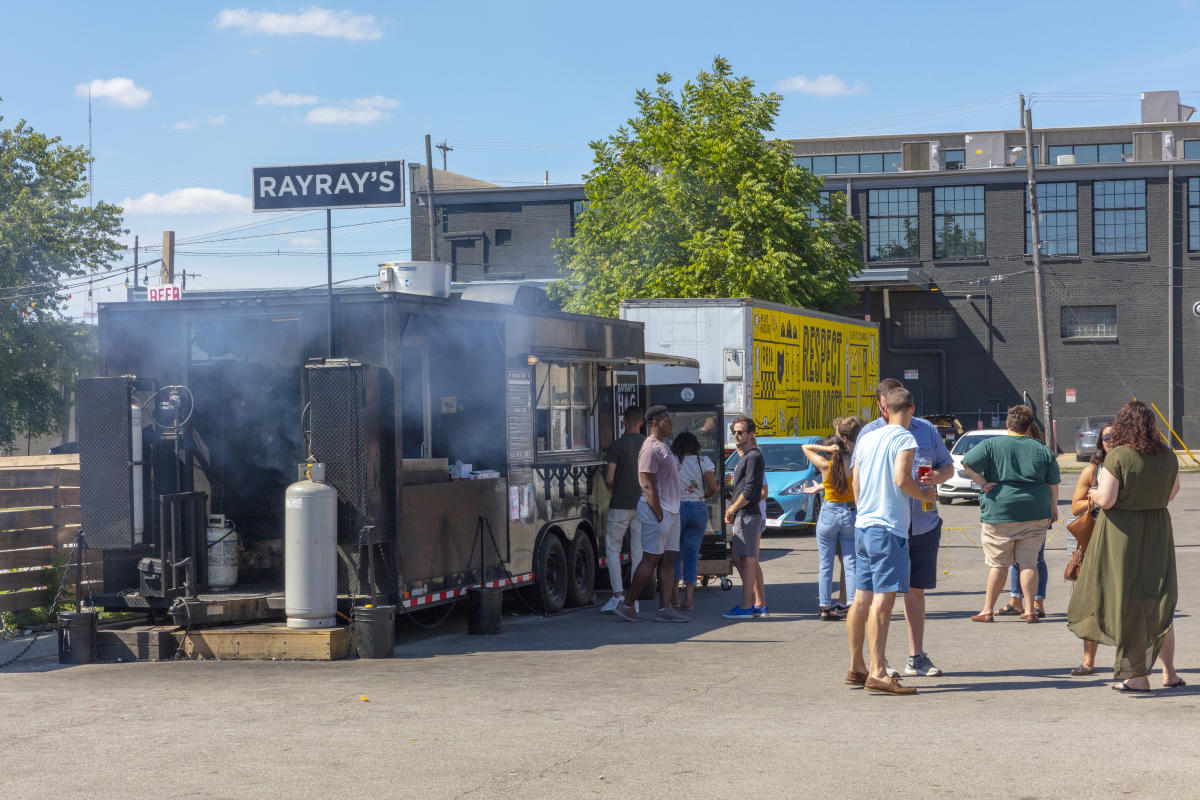 Ray Ray's food truck at Land-Grant Brewing