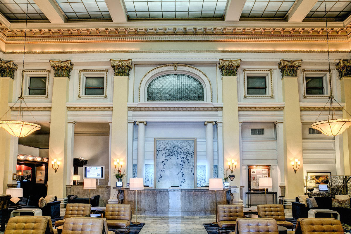 The Westin in Columbus features decadence and ornate design features.
