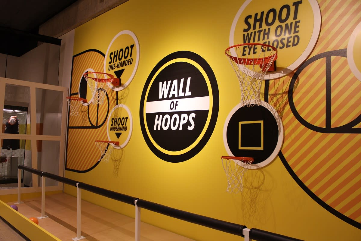 Wall of Hoops - Ohio Champion of Sports Exhibit