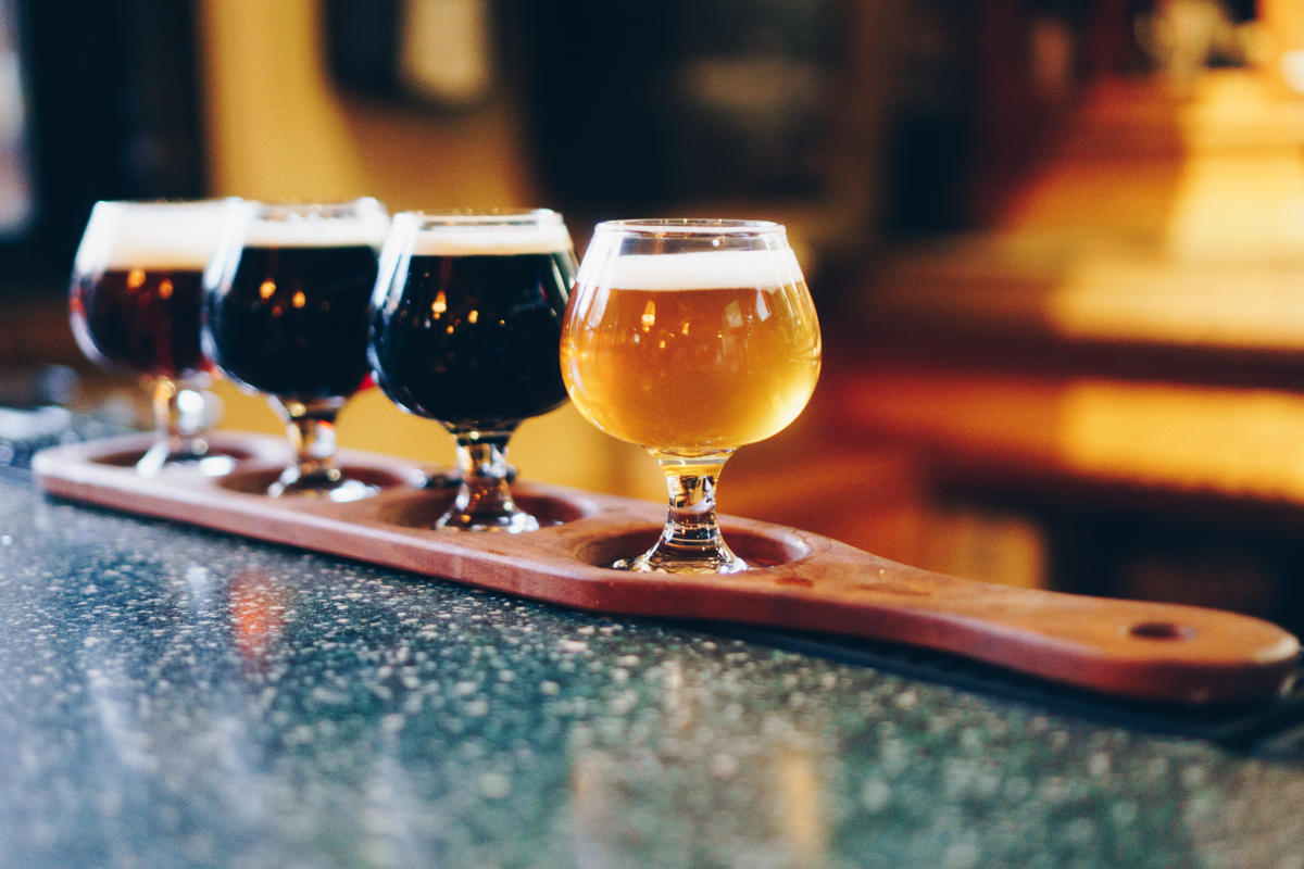 Beer Tasting and Flight at Steamworks Brewery, Durango, CO
