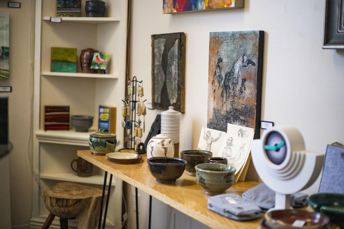 Art on display at 200 Main Art and Wine Gallery