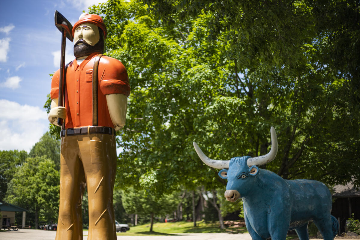 Wisconsin Logging Camp featuring Paul Bunyan at Carson Park