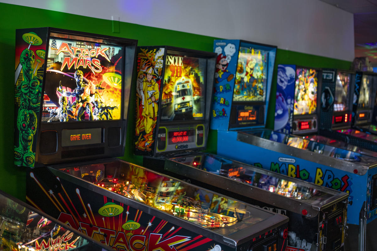 The games at Eau Claire Games and Arcade