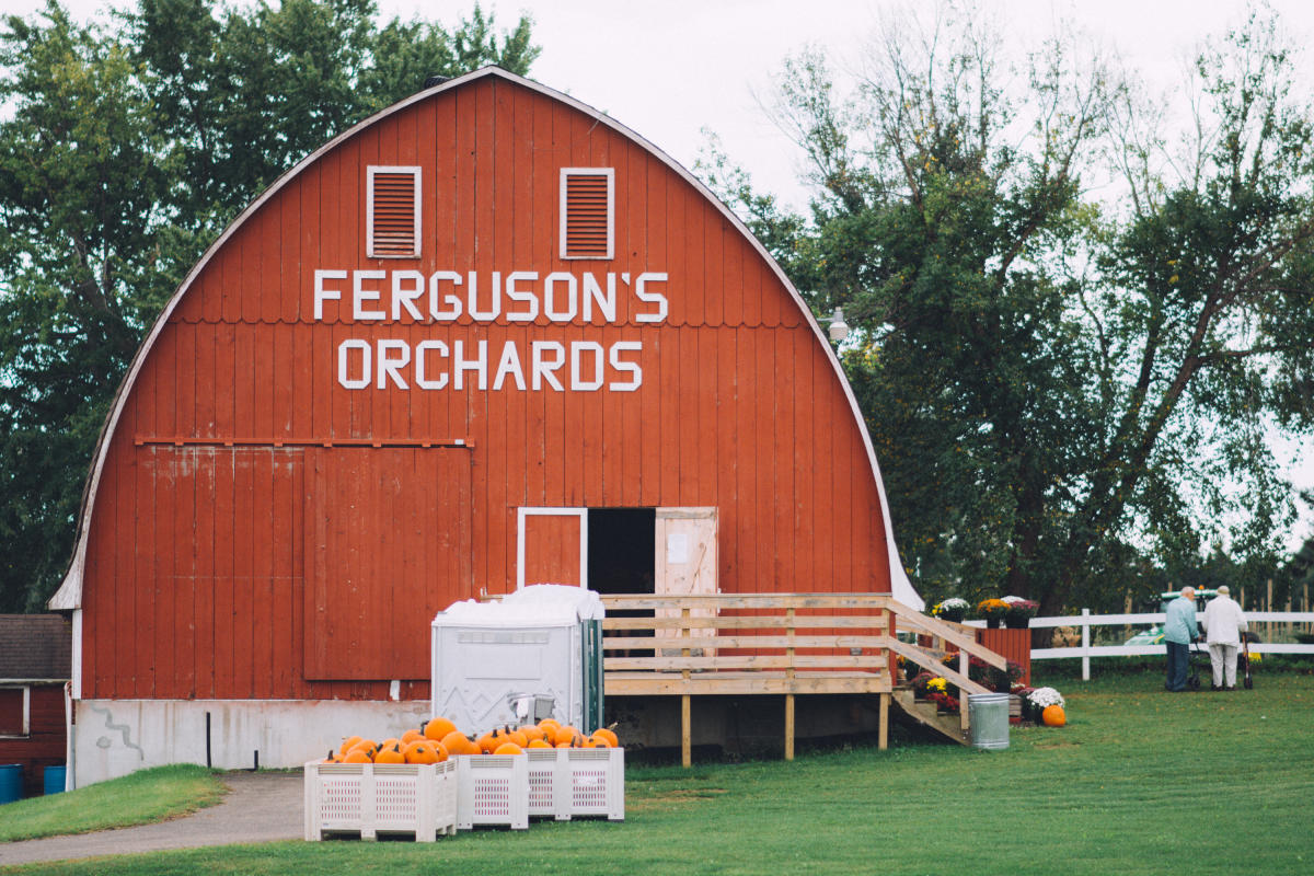 Exterior of the Ferguson's Orchards in Eau Claire, Wisconsin
