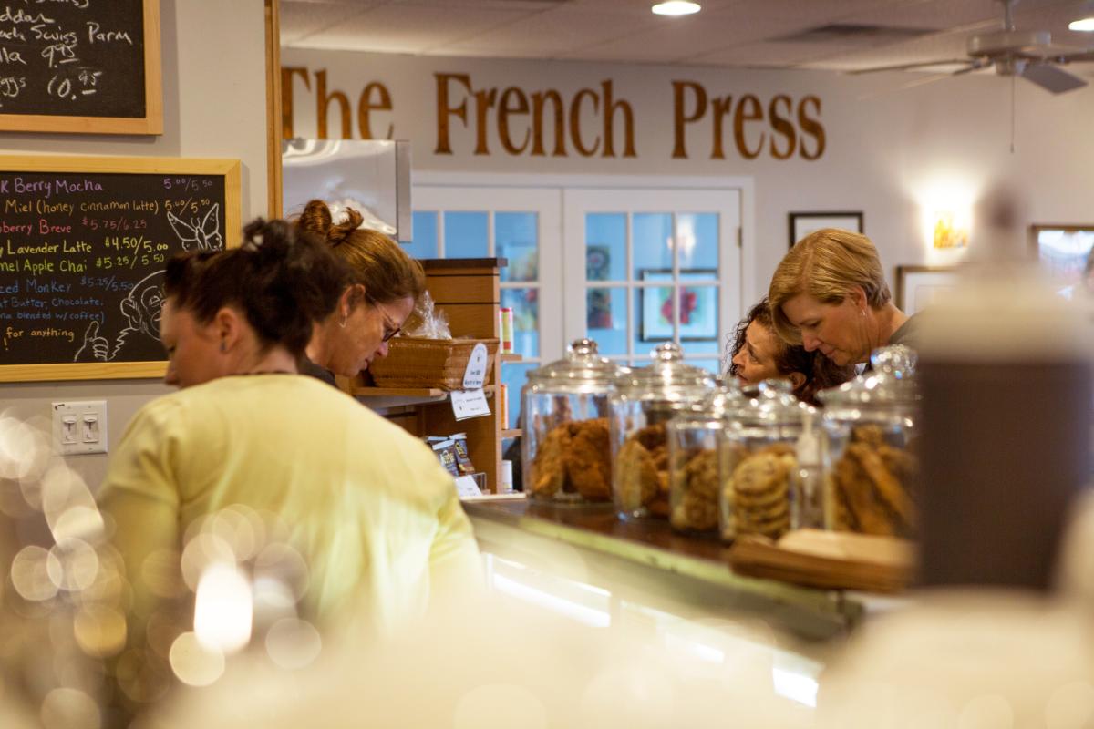The French Press interior