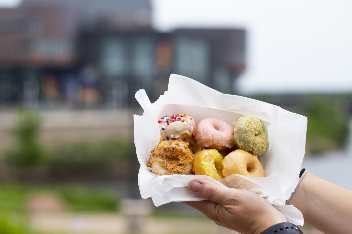 Mini donuts at Phoenix Park from Holy Donutes food truck